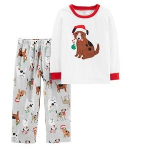 Carter's Dog Theme Holiday Pajamas